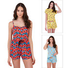 Loungeable Womens Novelty Short Nightwear Ladies All In One Or Top & Bottoms PJs