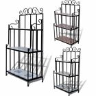 Garden Plant Stand Display Iron Tube and Ceramic Tile Outdoor Indoor Pot Plant