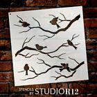 Birds & Branches Stencil by StudioR12 | Reusable Mylar Template | Crafters...