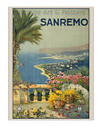 Sanremo, Italy - Vintage Italian Travel Poster [4 sizes, matte+glossy avail]