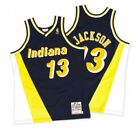Mark Jackson Indiana Pacers Mitchell  Ness Mesh NBA Swingman Jersey Navy Yellow
