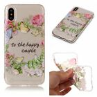 For iPhone 6S 7 8/ Plus/X Case Ultra Slim Thin Clear TPU Silicon Soft Back Cover