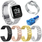 Fitness Stainless Steel Metal Wrist Band Bracelet For Fitbit Versa Smart Watch image