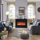 Traditional Design Electric Fireplace White or Black with Remote Control