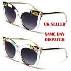 Transparent Cat Eye Giselle Flower Design Womens Sunglasses 100%UV400 2129