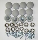 Внешний вид - 25 Dura Snap Upholstery Buttons Platinum Gray Choice Of Size And Screws