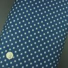 100% Cotton Denim Stars Print Fabric, 4oz Lightweight Soft, Washed, Material