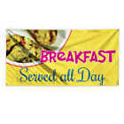 Breakfast Served All Day #1 Vinyl Banner Sign With Grommets