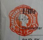 South Arica Gold Mining Share Transfer document with SA 20p & GB £1.05 revenues