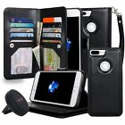 Navor Car Mount and iPhone 7 Plus Three Layers Wallet Case with [10 Card Slo ...