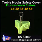 Fluorescent fishing treble hooks safety cover case-5 different sizes