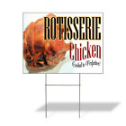 Rotisserie Chicken Cooked Perfection! Corrugated Plastic Yard Sign