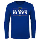 NHL St. Louis Blues Short Sleeve Cotton Jersey Shirt Tee Top Youth Kids Fanatics $12.5 USD on eBay