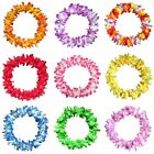 60Pcs/Pack Lei Flower Garlands Necklace Hawaiian Tropical Beach Party Dress Surp