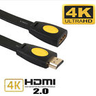 HDMI 2.0 Male to Female Extension Cable For LED 3D HDTV 4K x 2K Extend Cord lot