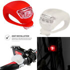 2/6PCS LED Silicone Bicycle Front Light Muti-colour Waterproof Bike Cilp Light