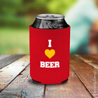 I Love Beer Bottle Can Holder Heart Koozie Fathers Day Koozy Present Cooler Gift