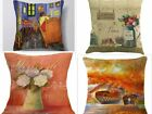 NEW Lean up against of Provence Pillows  Arles Covered Bridge Paris Linen Home Decor Art