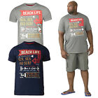 Duke D555 Mens Big Tall Kennedy King Size Crew Neck T Shirts Slogan Printed Tops