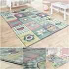 Children Bedroom Rug Pastel Multicoloured Soft Play Mat Nursery Kids Play Carpet
