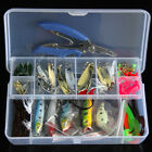 73pcs/100pcs/132pcs Fishing Lure Kit Mixed Minnow/Popper Spinner Spoon Lure With