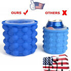 Summer Ice Cube-Maker Genie Silicone Ice Bucket The Space Saving Ice Cube-Tray