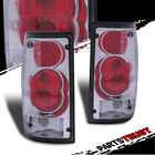 For 1989-1995 Toyota Pickup SR5/DLX/RN02 Chrome/Red Clear Brake Tail Lights Set