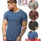 Kyпить Men Basic Muscle Short Sleeve T- Shirt Summer Tee Fashion Casual O Neck US STOCK на еВаy.соm