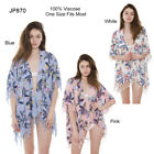 Soft Floral Print Topper / Cover-Up / Kimono with Fringes