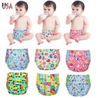 Newborn Cloth Diapers + 5 Inserts Baby One Size Adjustable Diaper Covers 6-30LB
