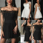 Women Sexy Lace Formal Prom Dance Evening Dress Wedding Party Short Dresses