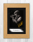 Brian Johnson (2) AC/DC A4 signed mounted photograph poster. Choice of frame