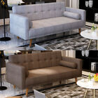 Luxury 3 Seater Sofa Padded Fabric Sofabed With Cushions Sofa Bed Settee