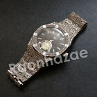 NEW HIP HOP ICED OUT 14K ROSE GOLD SILVER BLACK PLATED LAB DIAMOND 2CHAINZ WATCH
