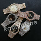 NEW HIP HOP ICED OUT 14K ROSE GOLD SILVER BLACK PLATED LAB DIAMOND 2CHAINZ WATCH image