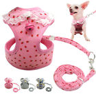 Mesh Soft Dog Harness  Leash with Bell for Pet Puppy Vest Chihuahua XS S M
