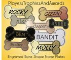 MEMORIAL Bone shape Name plate for Dog Urn box Engraved Personalized