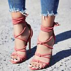 cute cheap high heels - Womens Sandals Strappy High Heels Peep Toe Cute Summer Party Evening Shoes Plus