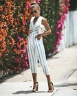 Ladies Jumpsuit Striped Women Summer Casual Sleeveless Romper Fashion New
