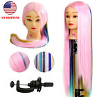 "14""-30"" Real Human Hair Training Practice Head Mannequin Hairdressing + Clamp"