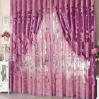 Peony Pattern Voile Curtains Living Room Window Curtain Tulle Sheer Curtains FJ