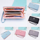 New Fashion Women Leather Clutch Lady Wallet Long PU Card Holder Purse Handbag
