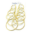 Fashion Silver & Gold Plate Round 6 Pair/Set Sleeper Hoop Earrings Jewelry Gift