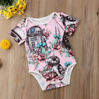 USA Canis Newborn Baby Girls Star Wars Flower Romper Bodysuit Outfit Set Sunsuit $6.79 USD on eBay