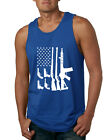 Assorted Guns American Flag Mens Gun Pride Tank Top 2nd Amendment USA Tee