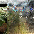 Mosaic privacy window film decoratieve non adhesive static cling