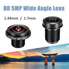 HD 1.4mm / 1.7mm 5MP Wide Angle Lens Fish Eye View 1/2.5'' M12 Board IP Camera