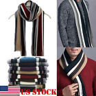 Fashion Men's Women's Stipe Knit Long Scarf Scarves Stole Soft Chirstmas Gift US