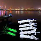 Lot 1-10PCS Fishing Lures Octopus Squid Hooks Baits Tackle Glow in the Dark Soft
