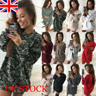 Womens Ladies Sweatshirt Long Sleeve Loose Hoodies Jumper Winter Dress Uk 6-16